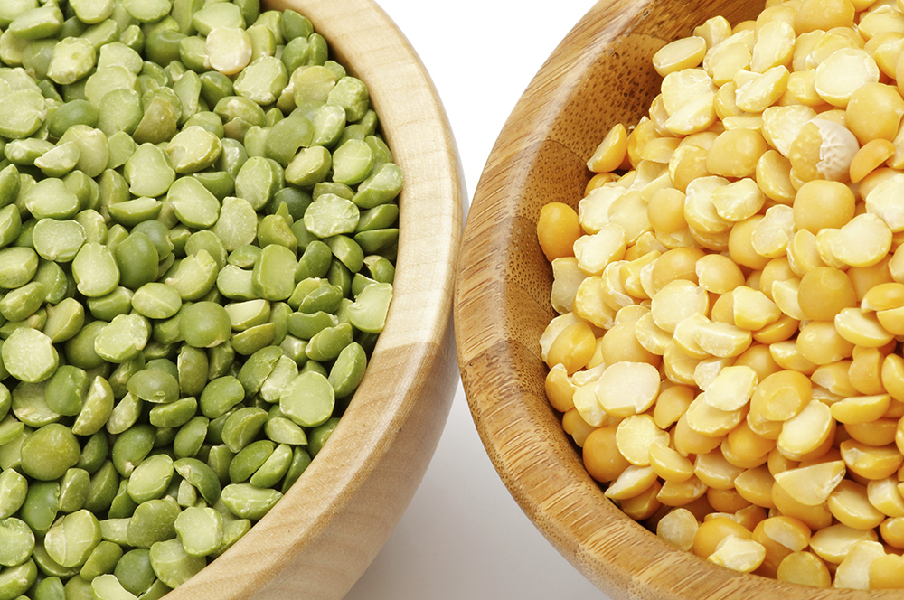 Ingredients - Yellow and Green Split Peas